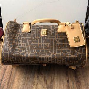 Vintage DVF Leather Weekender Overnight Travel Bag
